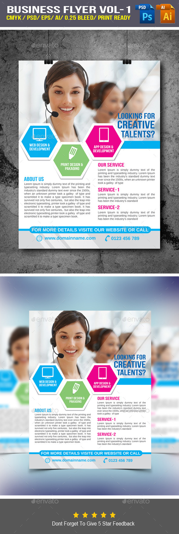GraphicRiver Business Flyer 9553754