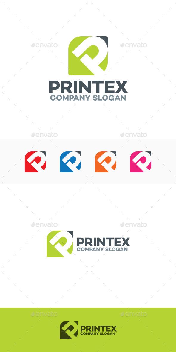 GraphicRiver Printex P Letter Logo 9663976