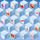Isometric Stats Element Cube Set - GraphicRiver Item for Sale
