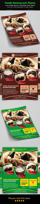 Foods Restaurant Flyers