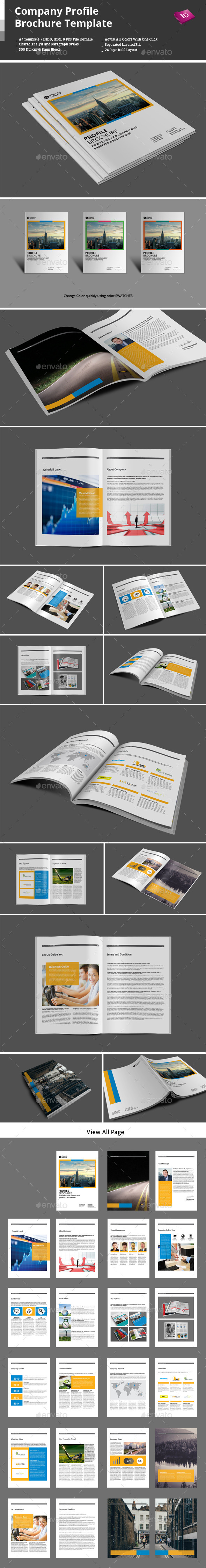 GraphicRiver Company Profile Brochure Template 9664535