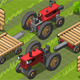 Isometric Red Farm Tractor in Two Positions - GraphicRiver Item for Sale