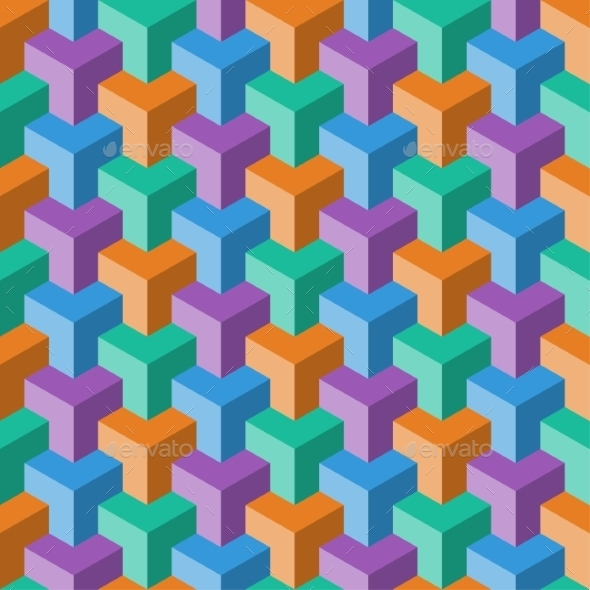 GraphicRiver Abstract Cube Pattern 9664862