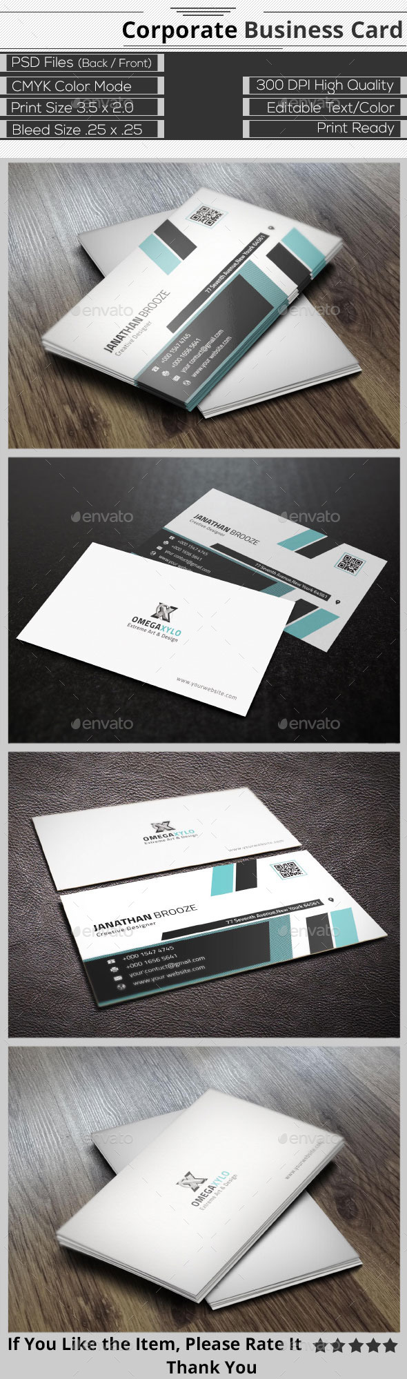 GraphicRiver Creative Corporate Business Card 9664891