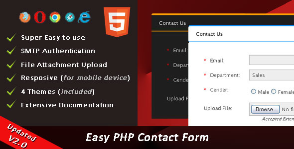 Easy PHP Contact Form Script