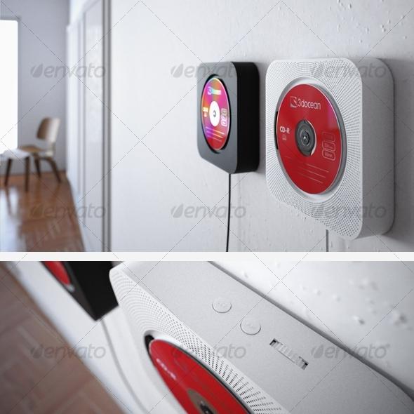3d models muji cd player 3docean. Black Bedroom Furniture Sets. Home Design Ideas