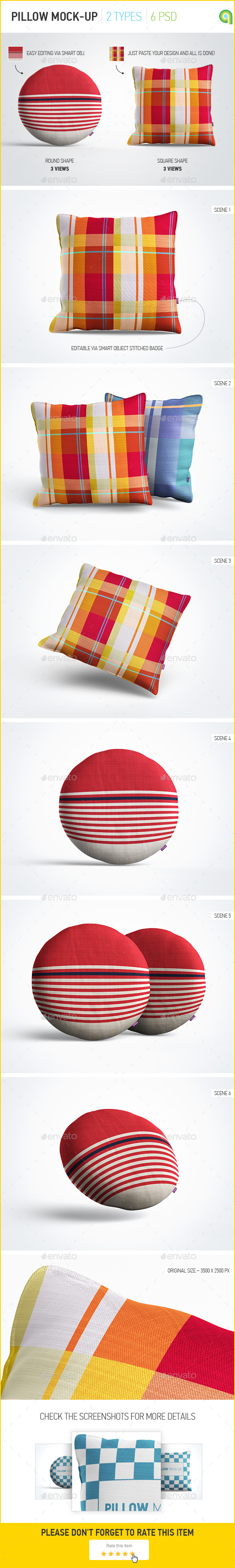 GraphicRiver Pillow Mock-Up 9666184