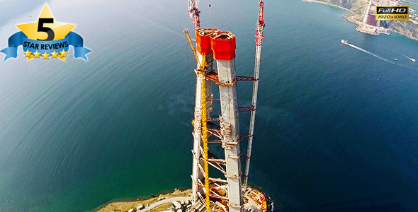 VideoHive Bridge Construction in Istanbul 9666193
