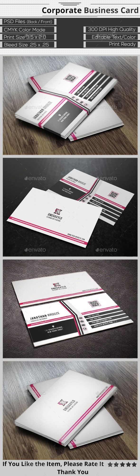GraphicRiver Elegant Corporate Business Card 9666195