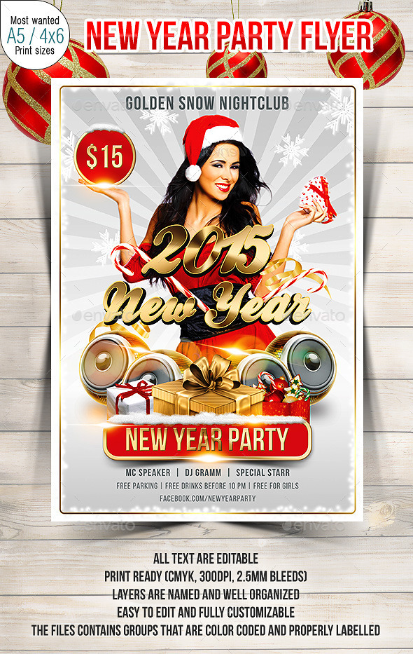 GraphicRiver New Year Party Flyer 9631013