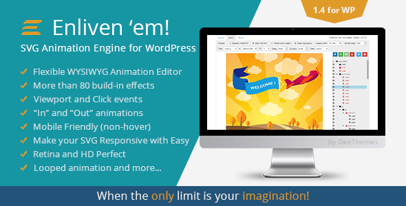 Enliven em SVG Animation Engine for WordPress