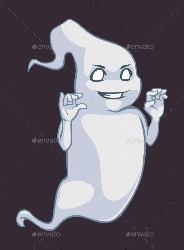 GraphicRiver Cartoon Ghost 9666623