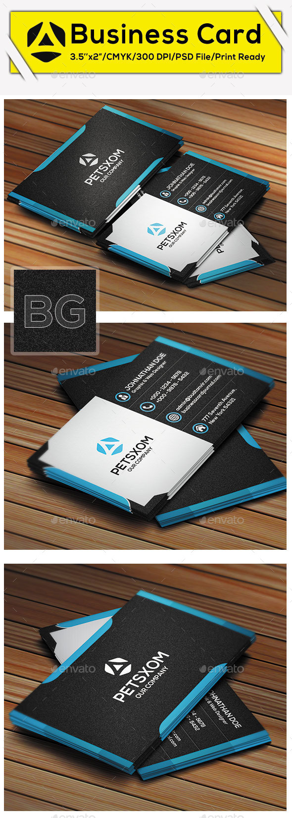 GraphicRiver Modern Business Card Vol I 9666631