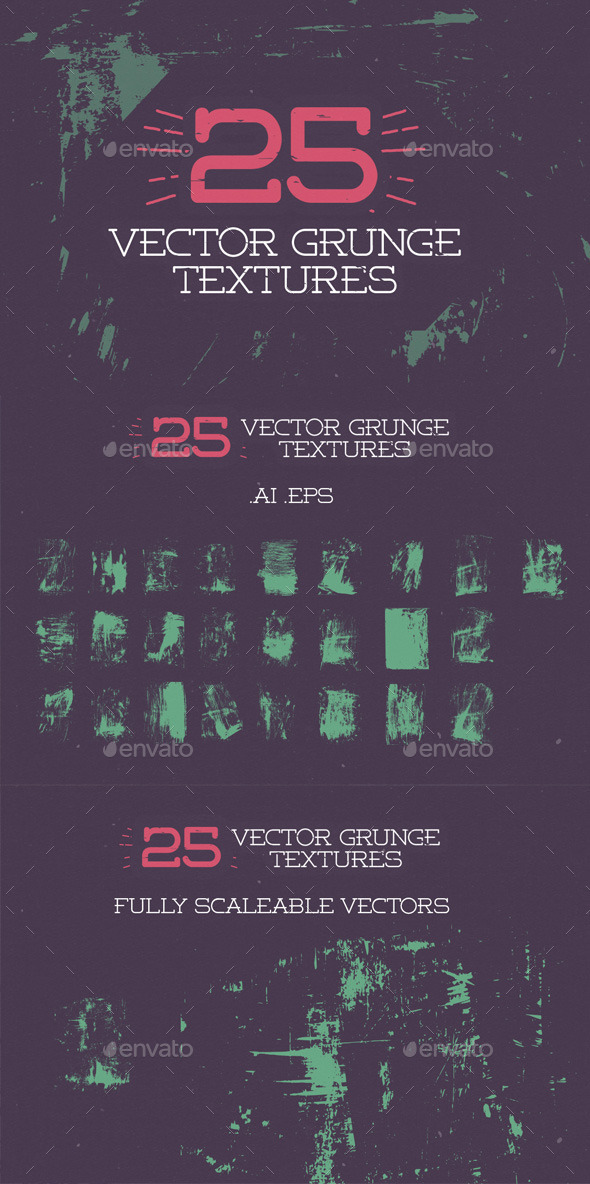 GraphicRiver 25 Vector Grunge Textures 9667248