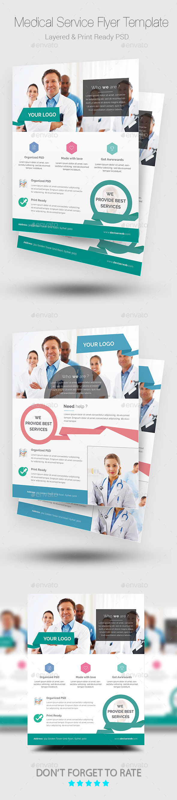 GraphicRiver Medical Flyer Poster Templates 9667403