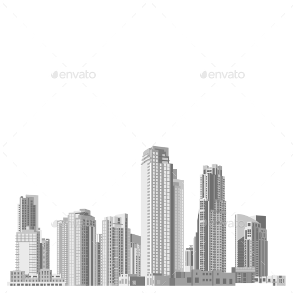 GraphicRiver Set of Skyscrapers with Diverse Architectur 9667584