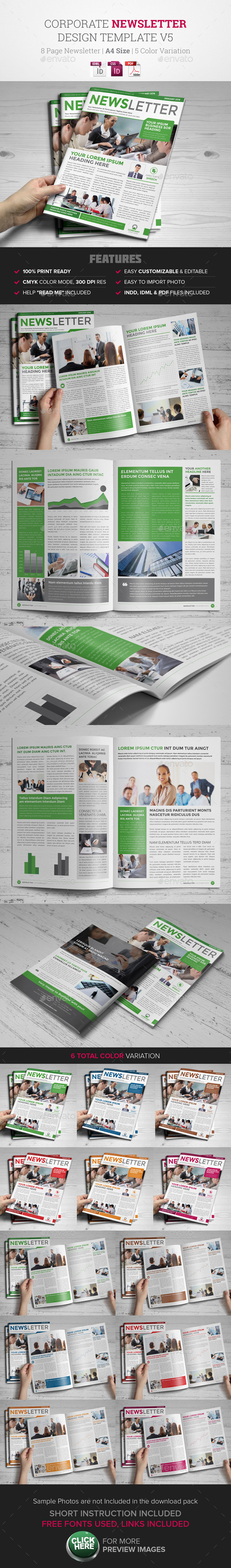 GraphicRiver Newsletter Indesign Template v5 9667621
