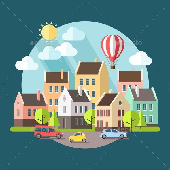 GraphicRiver Urban Landscape 9667631