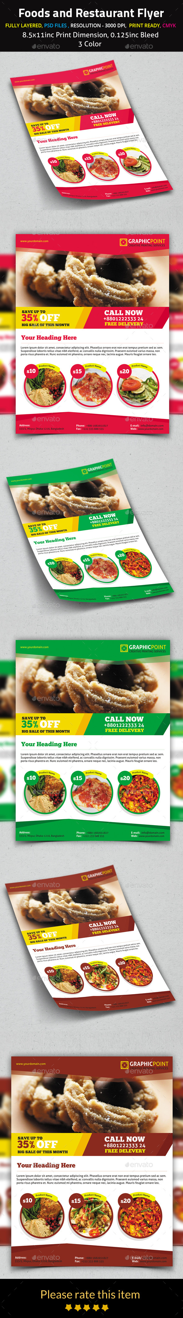 Foods and Restaurant Flyer