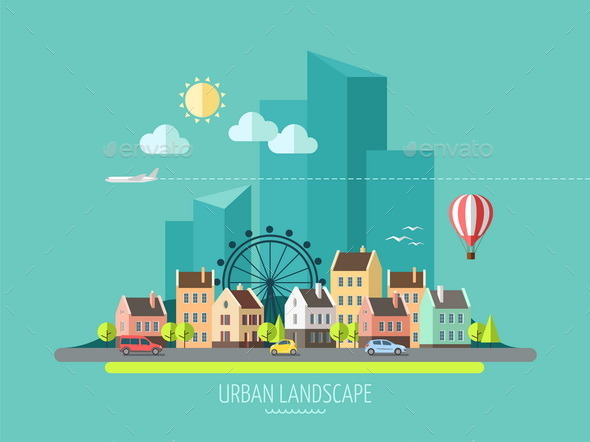 GraphicRiver City Landscape 9667655