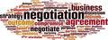 Negotiation Word Cloud Concept - PhotoDune Item for Sale
