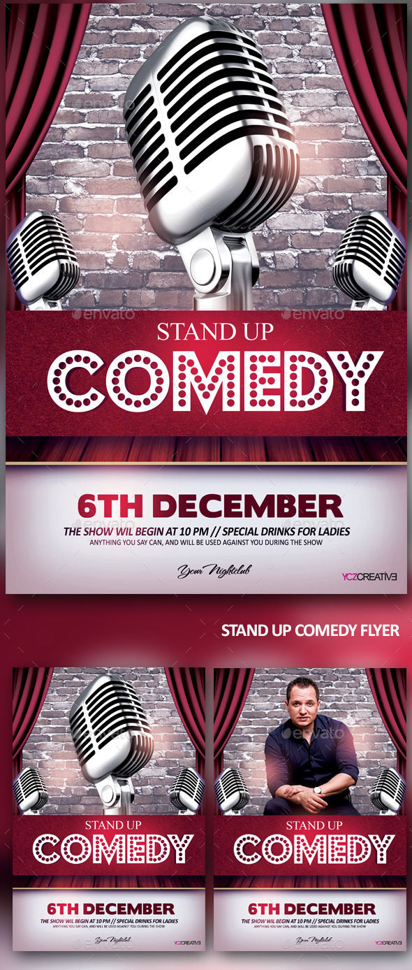 GraphicRiver Stand Up Comedy Show 9667863