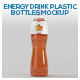 Energy Drink Plastic Bottles Mockup - GraphicRiver Item for Sale