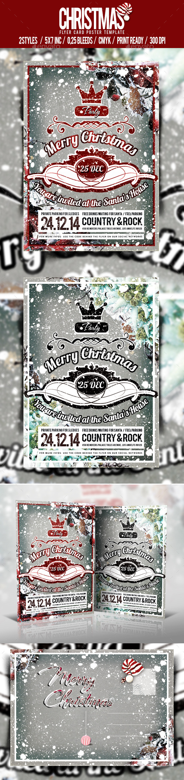 GraphicRiver Christmas Flyer Poster Vol.3 3423791