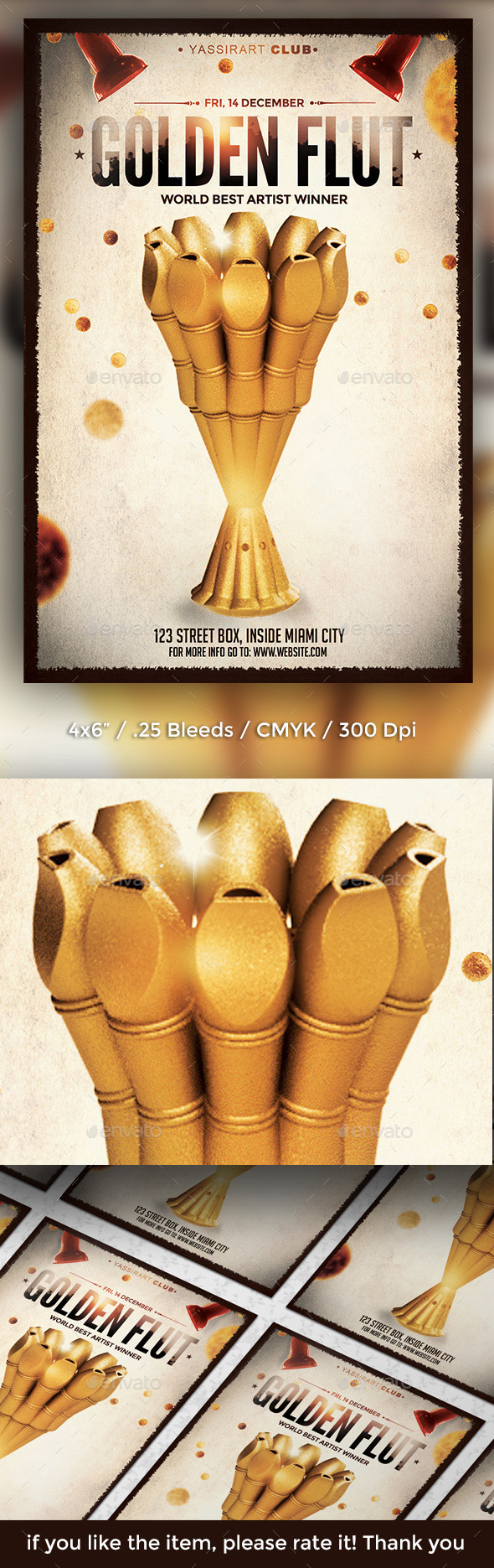 GraphicRiver Golden Flute Flyer Template 9668803