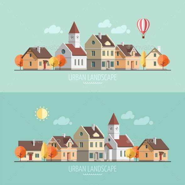 GraphicRiver Autumn Cityscape 9668839