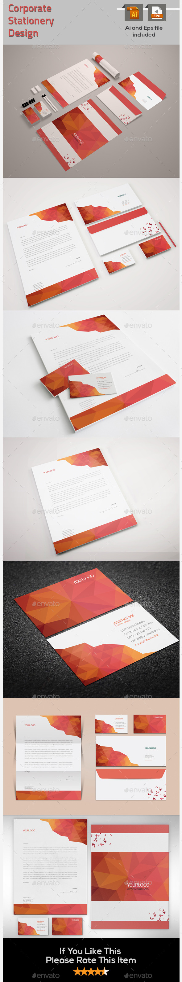 GraphicRiver Corporate Stationery Design 9668867