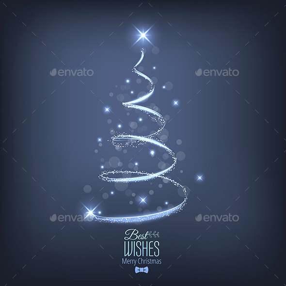 GraphicRiver Abstract Christmas Tree From Light 9668976