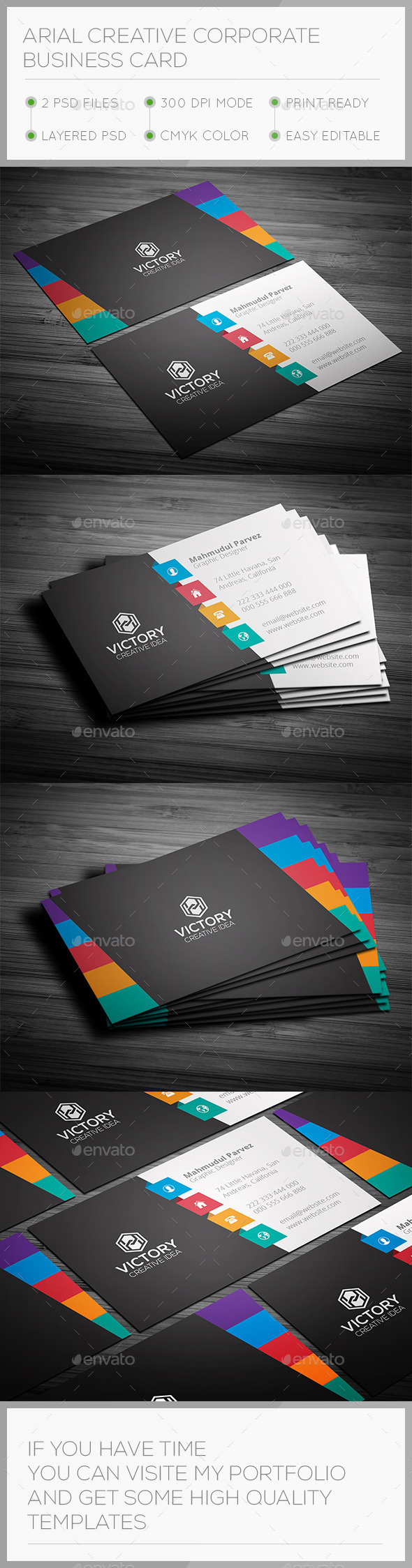 GraphicRiver Arial Creative Business Card 9669239