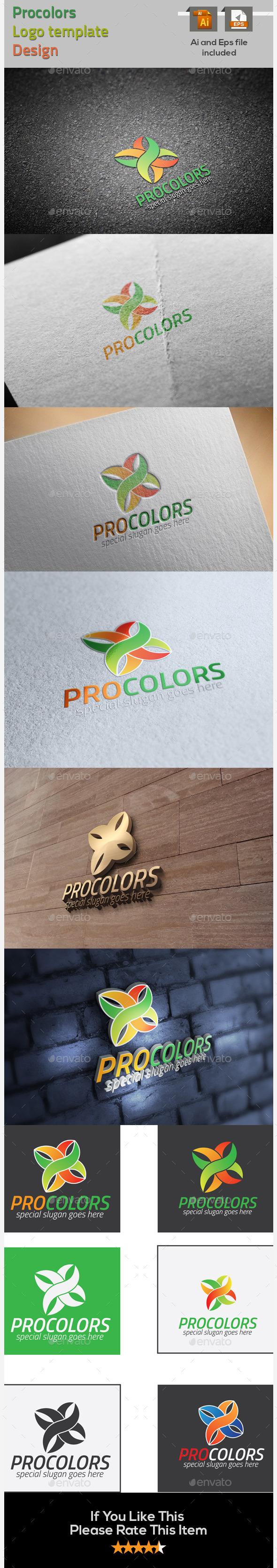 GraphicRiver Procolors Logo Template 9669256