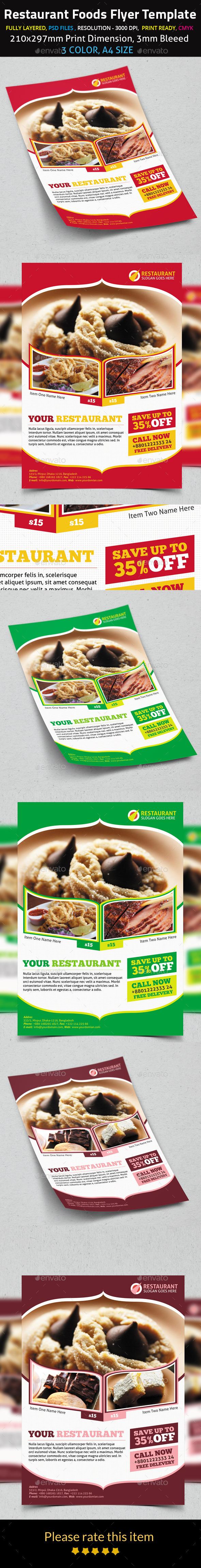 Restaurant Foods Flyer Template