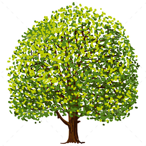 GraphicRiver Tree Drawing 9669363