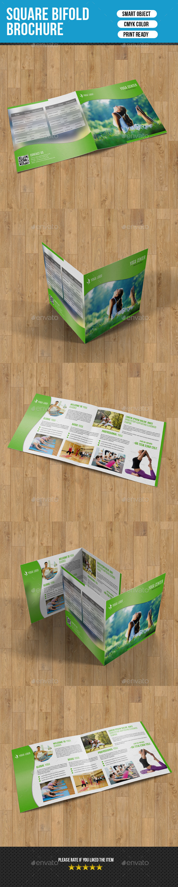 GraphicRiver Square Bifold for Yoga Center-V03 9669364