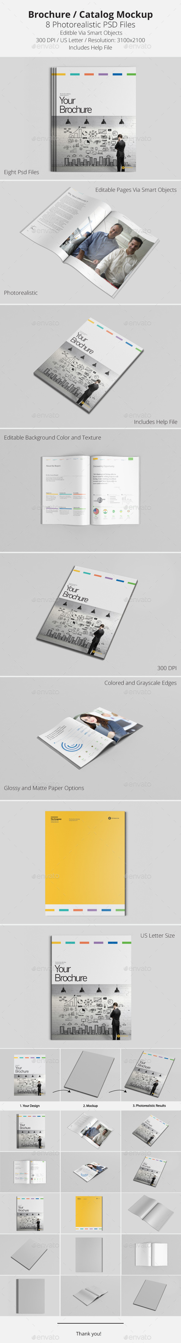 GraphicRiver Brochure Catalog Mockup 9669397