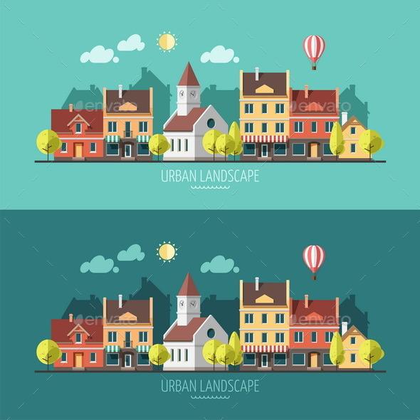 GraphicRiver Summer Urban Landscape 9669447