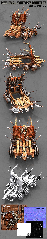 3DOcean Medieval Fantasy Mantlet 9669450