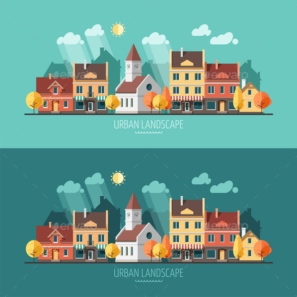 GraphicRiver Autumn Urban Landscape 9669462