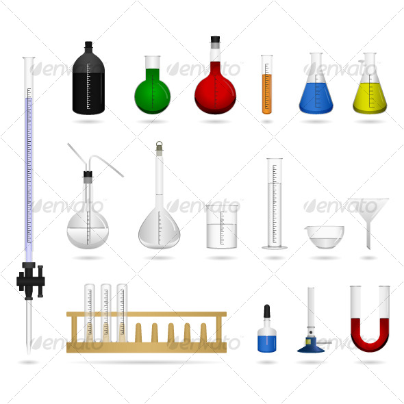 Science chemical lab laboratory equipment vector man made objects