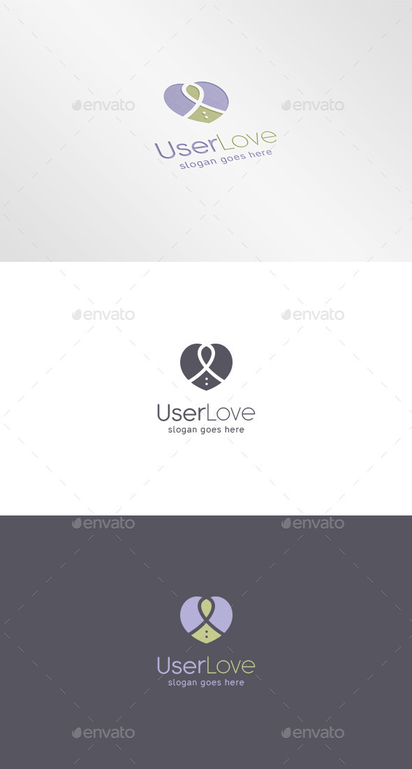 GraphicRiver User Heart Logo 9669649