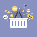 Discount sales flat icon illustration - PhotoDune Item for Sale
