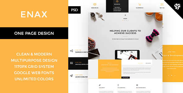 ThemeForest Enax One Page MultiPurpose Parallax 9669775