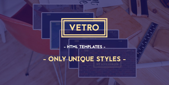 ThemeForest Vetro Creative HTML5 Template 9624462