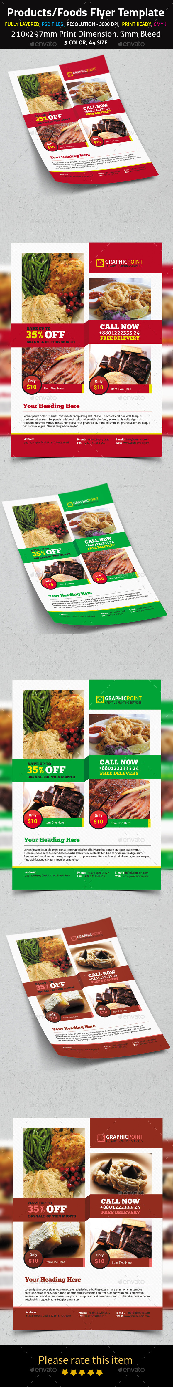Products/Foods Flyer Template