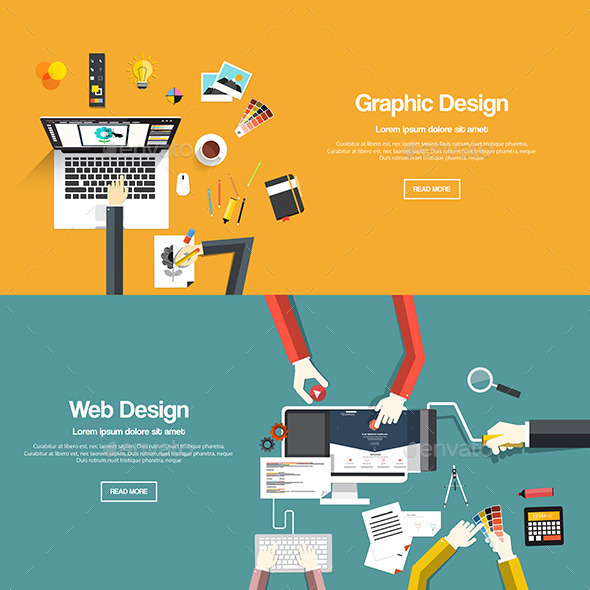 GraphicRiver Flat Designed Banners 9669821