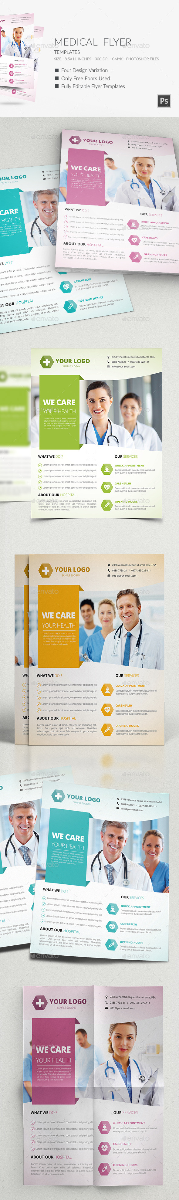 GraphicRiver Medical Flyers Templates 9636866