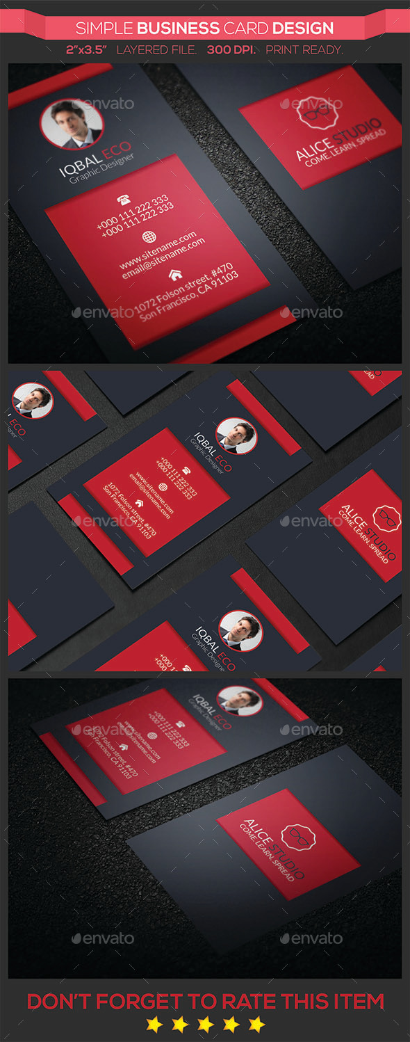 GraphicRiver Simple Business Card Design 9669938